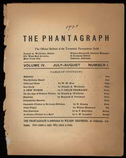 THE. July-August 1935 . PHANTAGRAPH, Donald A. Wollheim, number 1 volume 4.