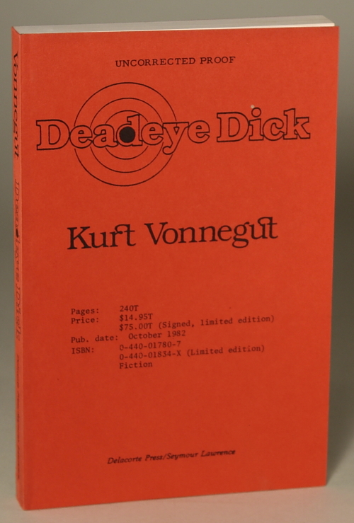 DEADEYE DICK. Kurt Vonnegut.