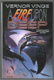A FIRE UPON THE DEEP. Vernor Vinge.