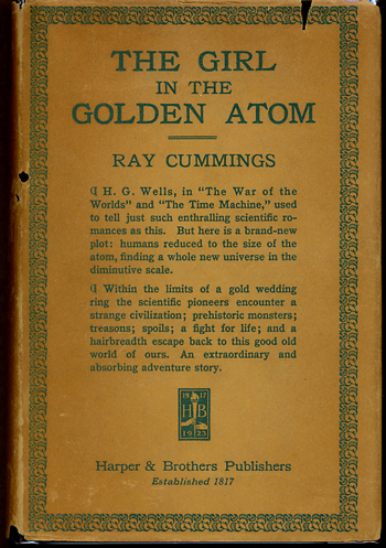 THE GIRL IN THE GOLDEN ATOM. Ra Cummings.