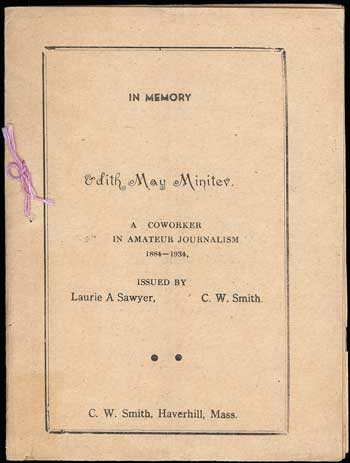 THE. September 1934 . TRYOUT, C. W. Smith, number 8 volume 16.