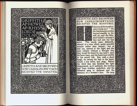 TALES FROM THE NEW MABINOGION ... Arranged and Decorated by Fred Richards, R. E. Collins, Townsend.