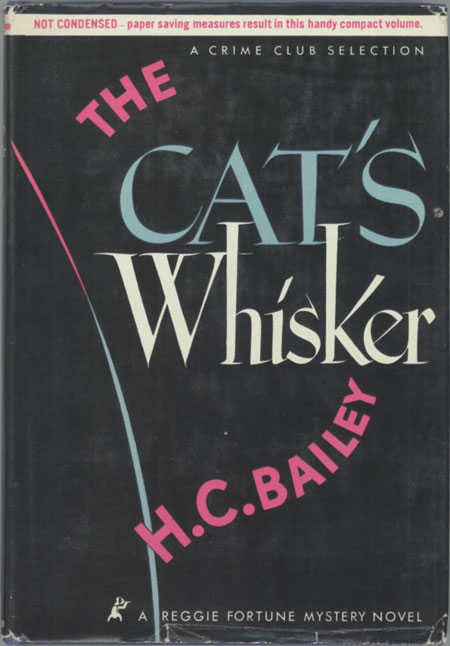 THE CAT'S WHISKER. Bailey.