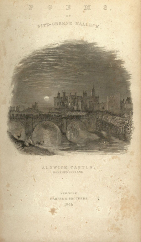 ALNWICK CASTLE, WITH OTHER POEMS. Fitz-Greene Halleck.