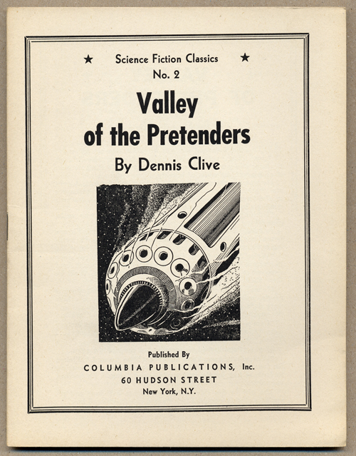 VALLEY OF THE PRETENDERS. Dennis Clive, John Russell Fearn.