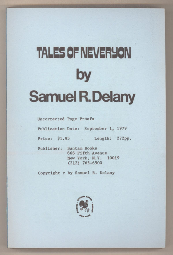TALES OF NEVERYON. Samuel R. Delany.