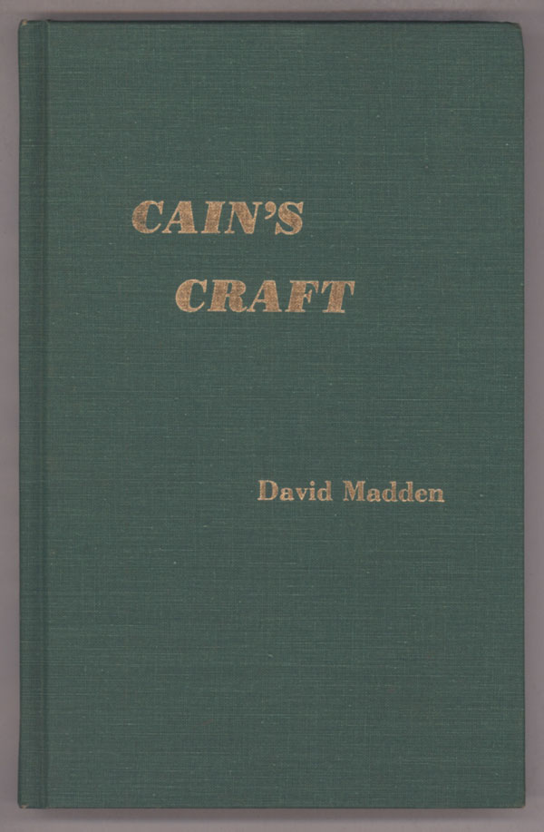 CAIN'S CRAFT. James M. Cain, David Madden.