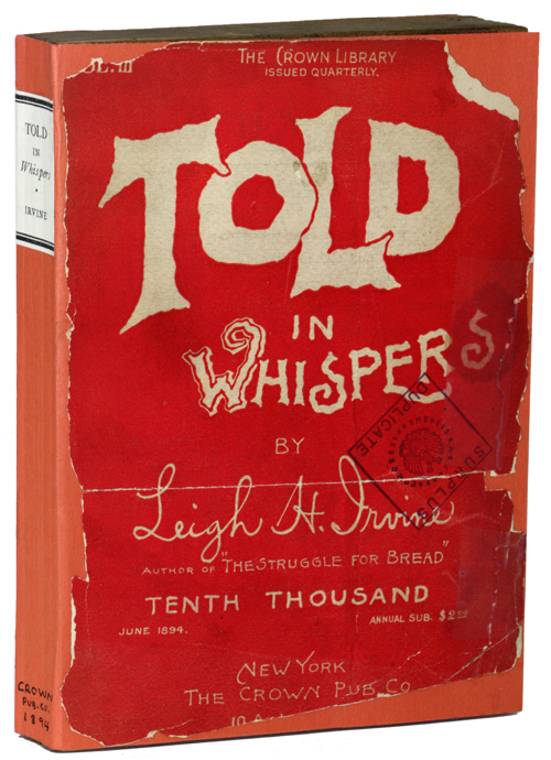 TOLD IN WHISPERS. FROM THE LATELY DISCOVERED MSS. OF LAWRENCE FLEET, D.C.L. Leigh Irvine.