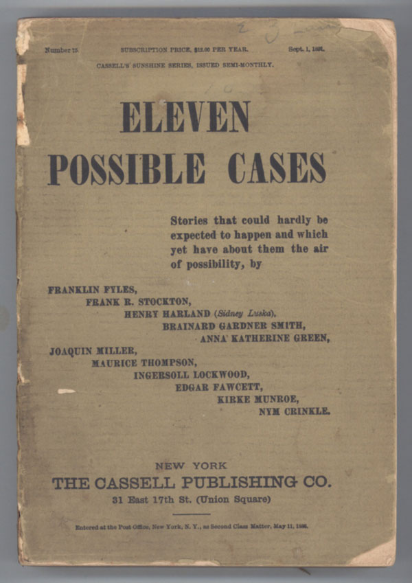 ELEVEN POSSIBLE CASES. Anonymously Edited Anthology.