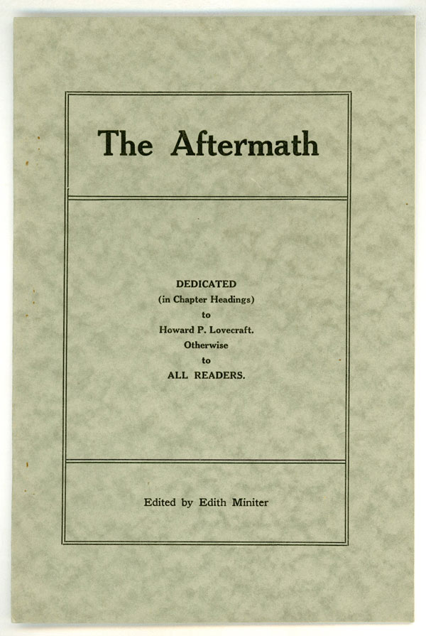 THE. November 1921 AFTERMATH, Edith Miniter.