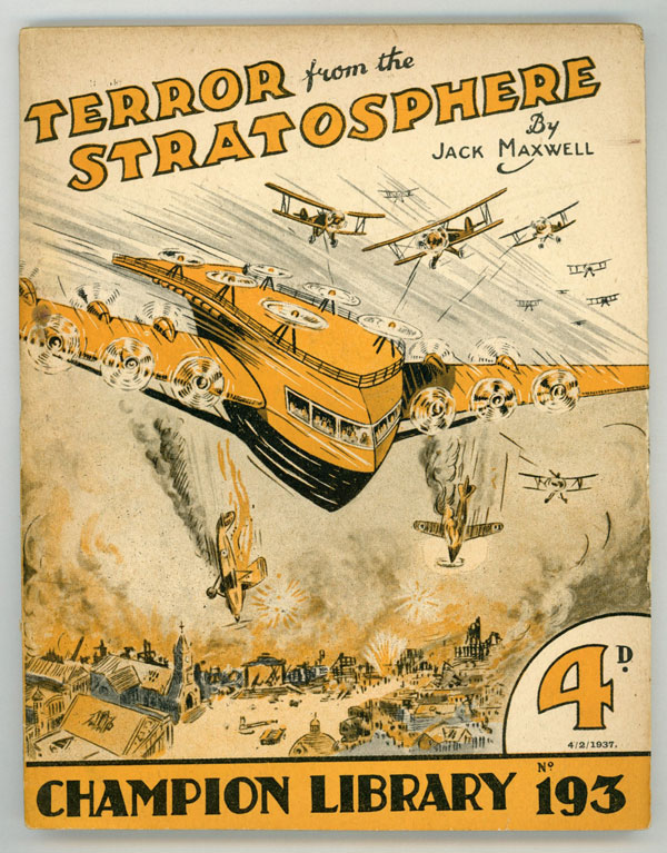 """""""Terror from the Stratosphere"""" in CHAMPION LIBRARY. Jack CHAMPION LIBRARY. Maxwell."""