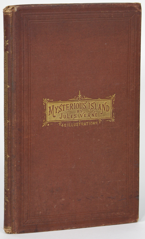 THE MYSTERIOUS ISLAND ... WRECKED IN THE AIR. Authorized Edition. Jules Verne.