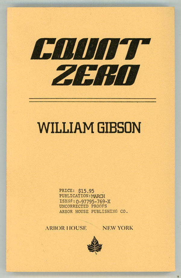 COUNT ZERO. William Gibson.