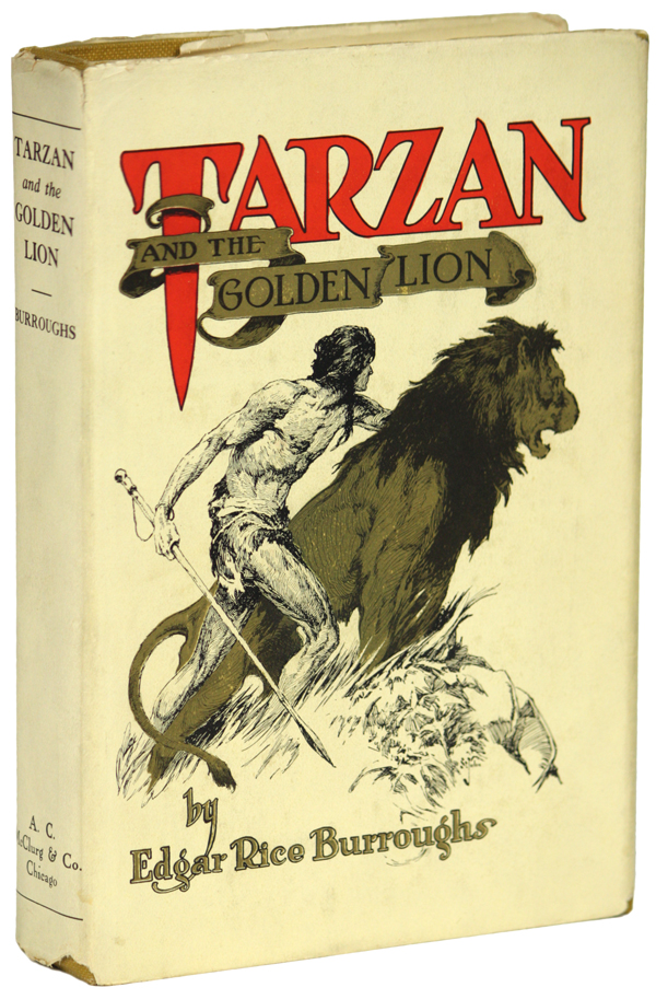 TARZAN AND THE GOLDEN LION. Edgar Rice Burroughs.