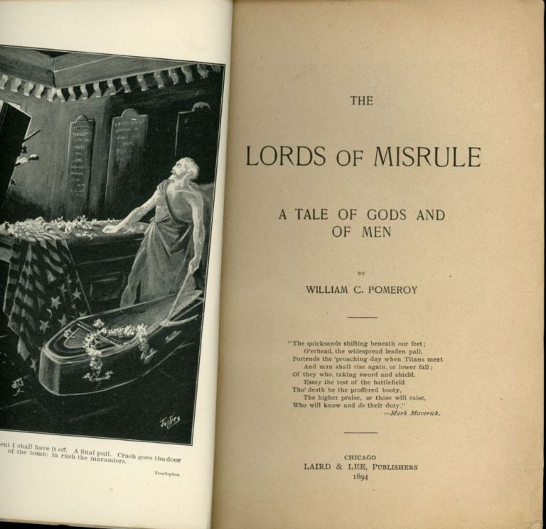 THE LORDS OF MISRULE: A TALE OF GODS AND MEN. William Pomeroy.