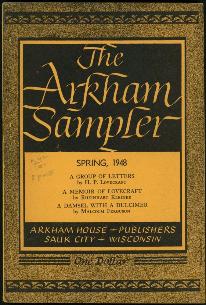 THE. Winter 1948 - Autumn 1949 . ARKHAM SAMPLER, August Derleth, number 1-volume 2 volume 1, number 4.
