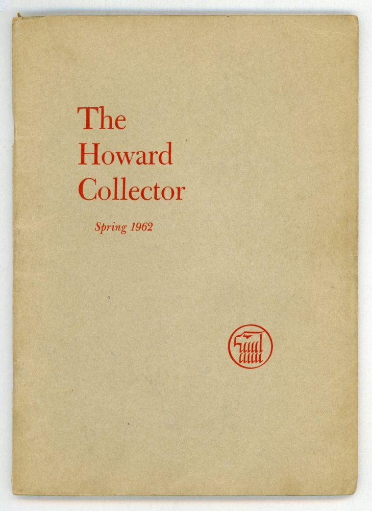 THE. Spring 1962 . HOWARD COLLECTOR, Glenn Lord, number 2 [whole number 2 volume 1.