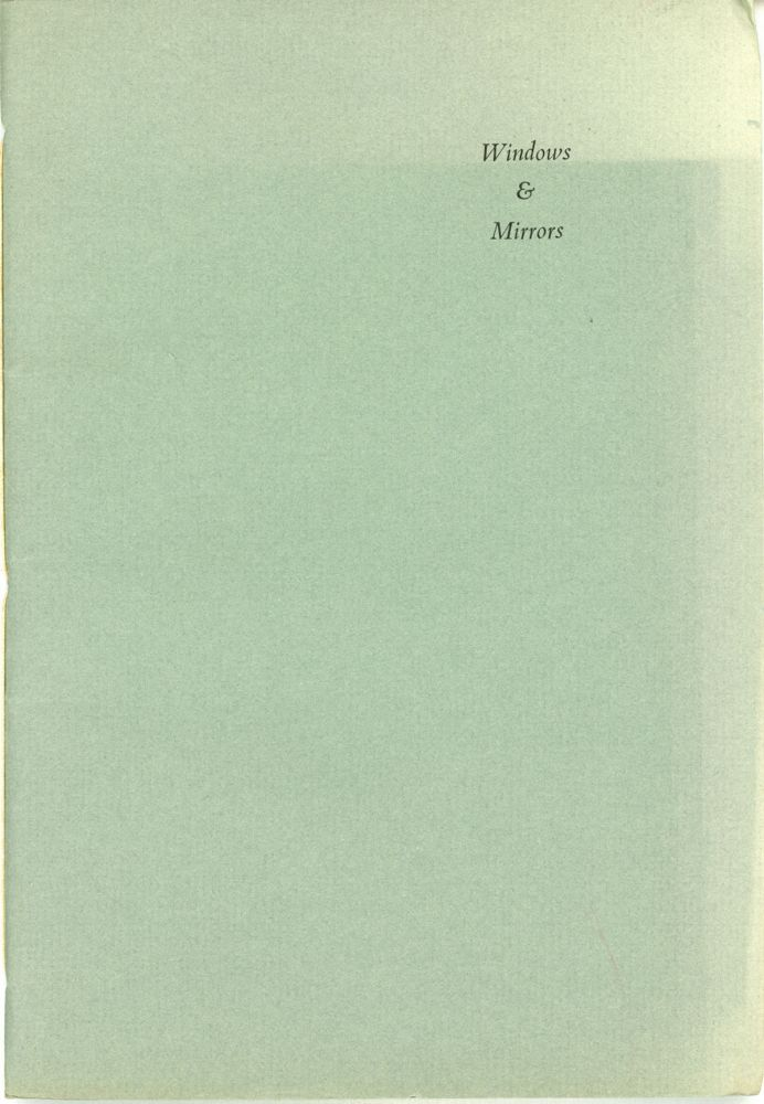 WINDOWS & MIRRORS: A CHAPBOOK OF POETRY FOR DEEP SOUTH CON XV. Michael Bishop.