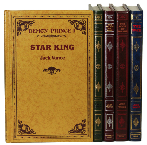 """THE DEMON PRINCE SERIES: THE STAR KING, THE KILLING MACHINE, THE PALACE OF LOVE, THE FACE and THE BOOK OF DREAMS. John Holbrook Vance, """"Jack Vance."""""""