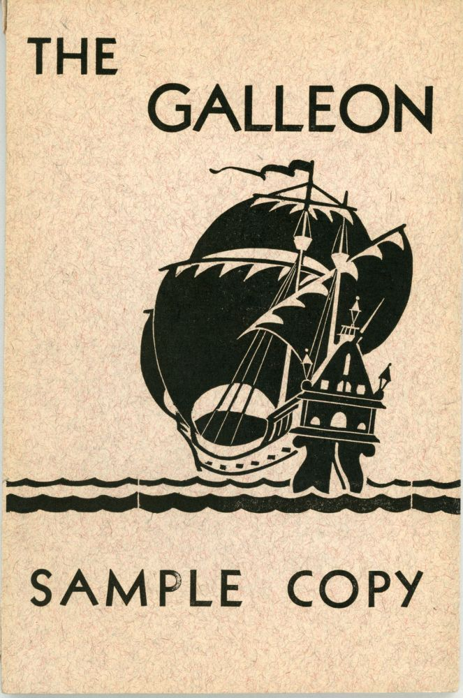 THE. July / August 1935 . GALLEON, Lloyd Arthur Eshbach, number 5 volume 1.