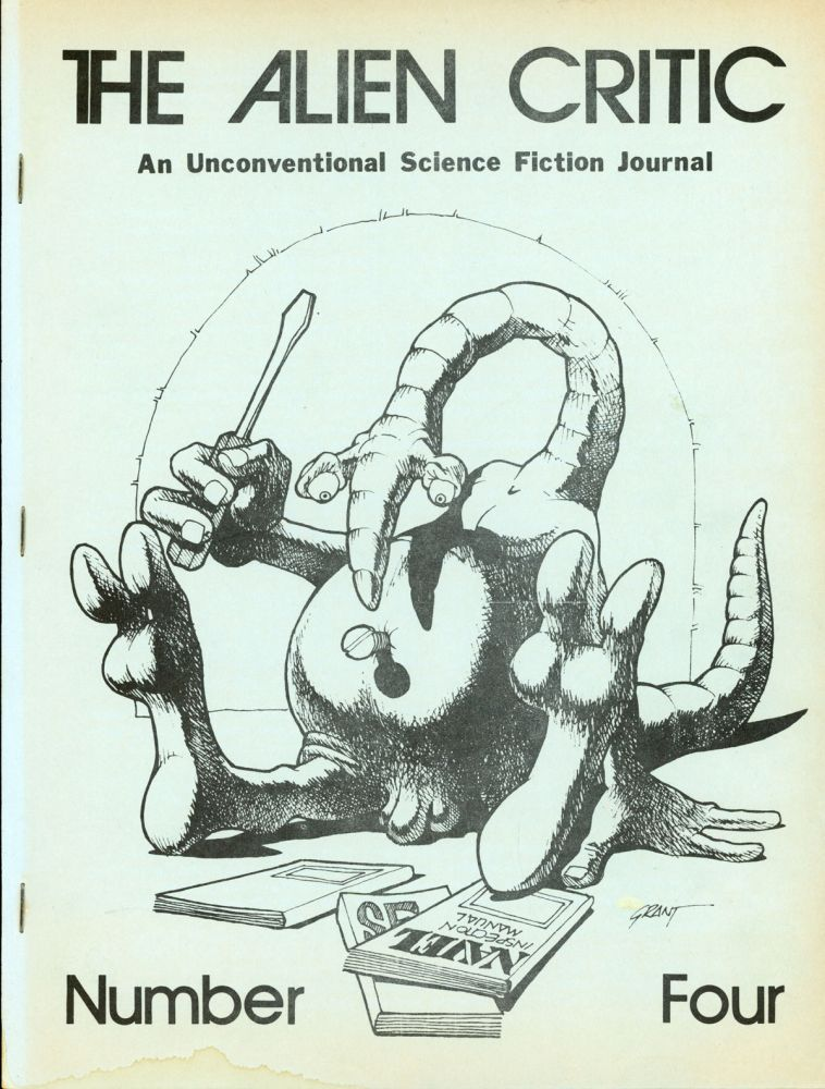 THE. September 1972-January 1973 . ALIEN CRITIC, Richard E. Geis, number 1 volume 2, whole number 4.