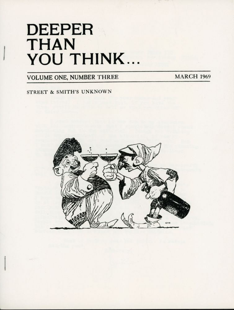 DEEPER THAN YOU THINK. March 1969 ., Joel Frieman, number 3 volume 1.