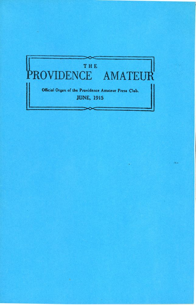 THE PROVIDENCE AMATEUR. Lovecraft.