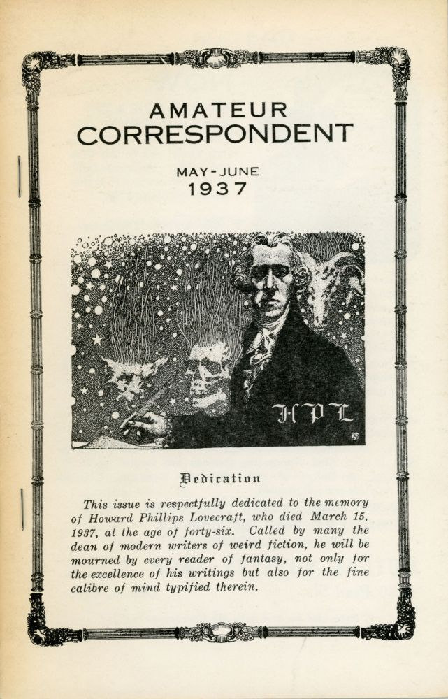 """Notes on Writing Weird Fiction."" In: AMATEUR CORRESPONDENT. Lovecraft."