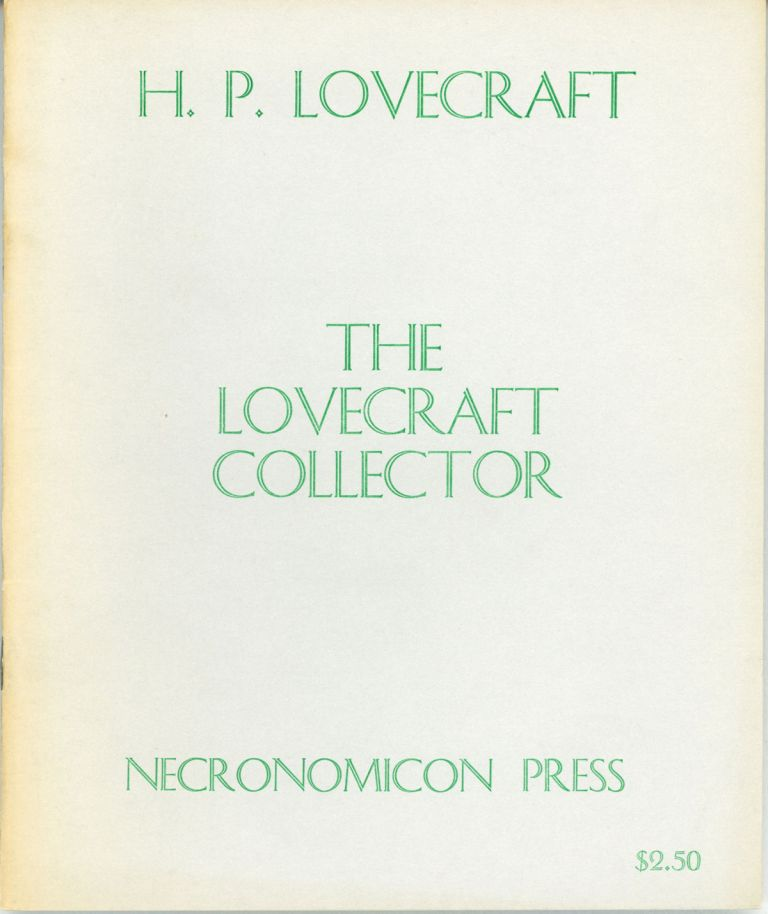 THE. January - October 1949 . LOVECRAFT COLLECTOR, Ray H. Zorn, numbers.
