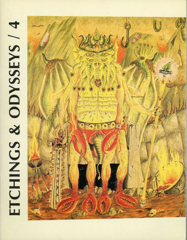 ETCHINGS AND ODYSSEYS: A. SPECIAL TRIBUTE TO WEIRD TALES. 1984 ., John Koblas Eric Carlson, R. Alain Everts, number 4.
