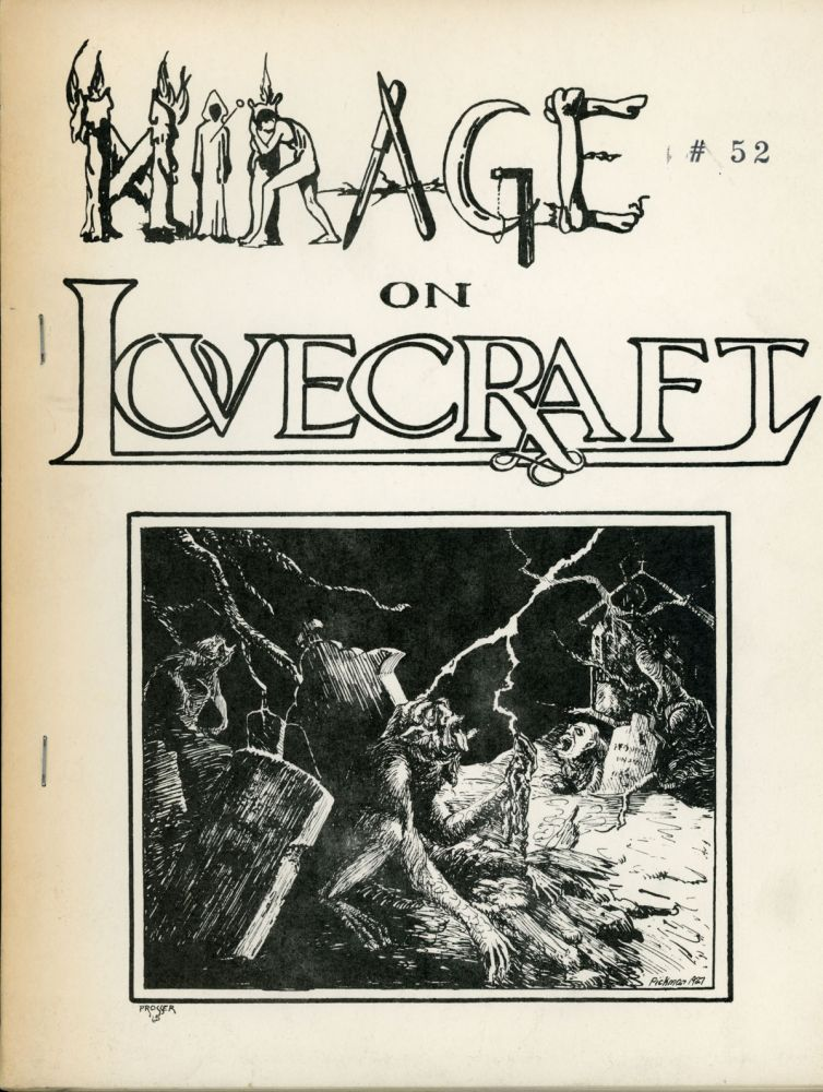 MIRAGE ON LOVECRAFT: A LITERARY VIEW. Howard Phillips Lovecraft, Jack L. Chalker.