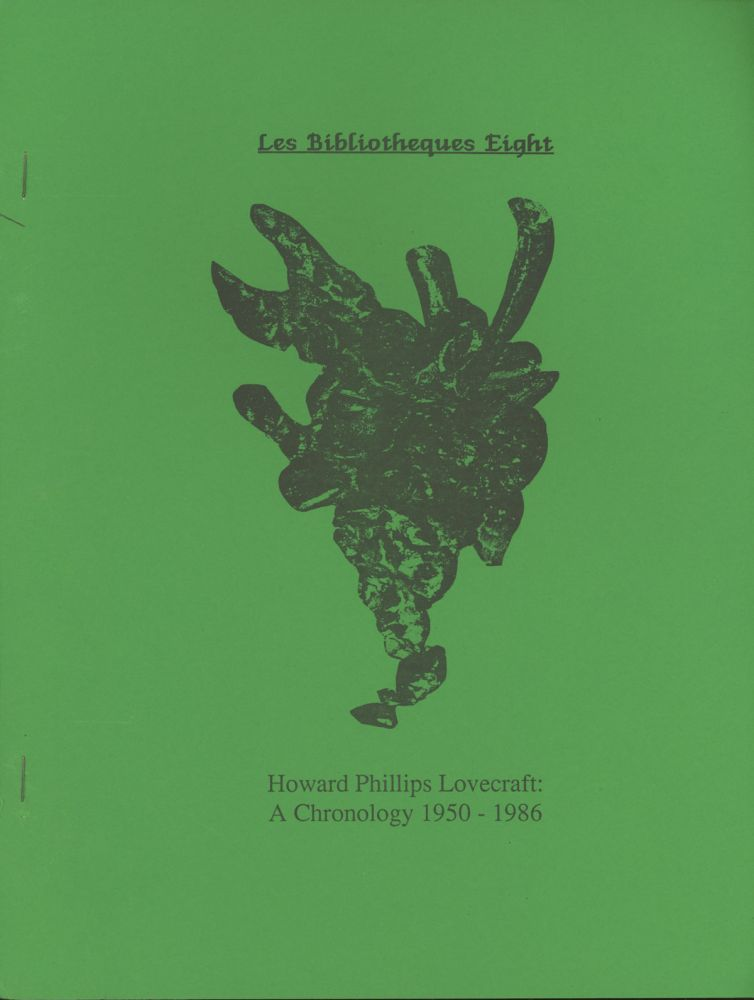 Howard Phillips Lovecraft, LES BIBLIOTHEQUES. April 1984-April 1987 ., Joe Bell, numbers.