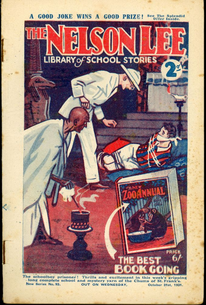 """""""The Menaced Schoolboy!"""" in THE NELSON LEE LIBRARY. THE NELSON LEE LIBRARY."""