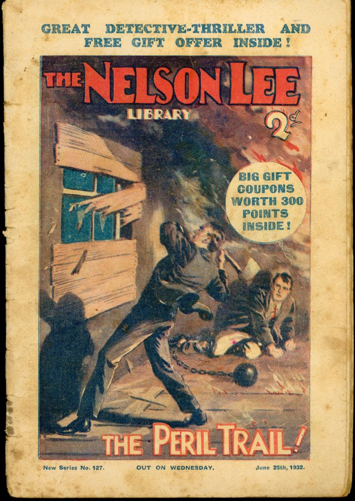 """""""The Peril Trail!"""" in THE NELSON LEE LIBRARY. THE NELSON LEE LIBRARY."""