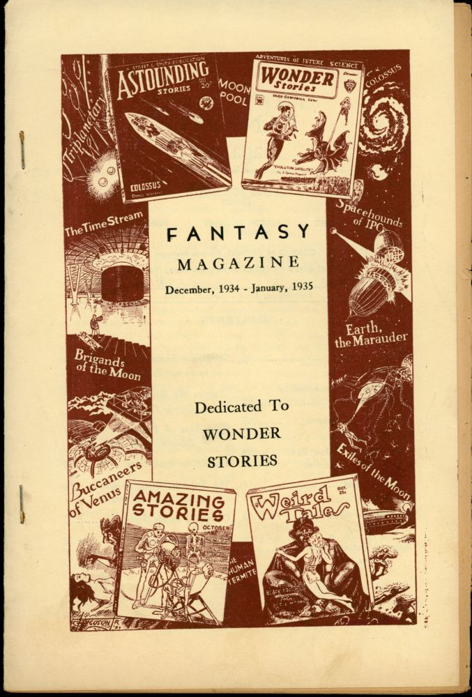 FANTASY MAGAZINE . December 1934-January 1935 ., Julius Schwartz, number 3 volume 4, whole number 27, formerly SCIENCE FICTION DIGEST.