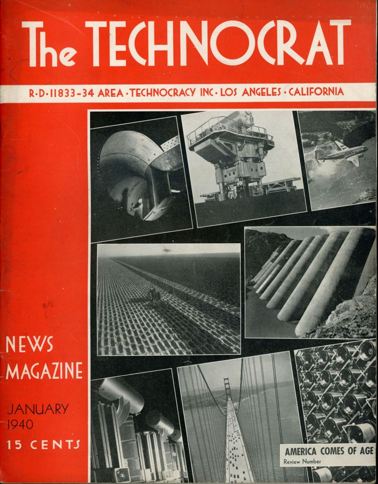 THE. January 1940 TECHNOCRAT, number 1 volume 8, whole number 39.