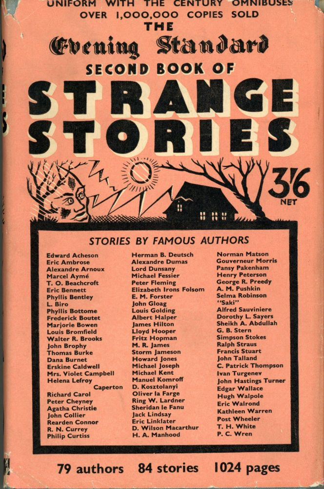 THE EVENING STANDARD SECOND BOOK OF STRANGE STORIES. Anonymously Edited Anthology.