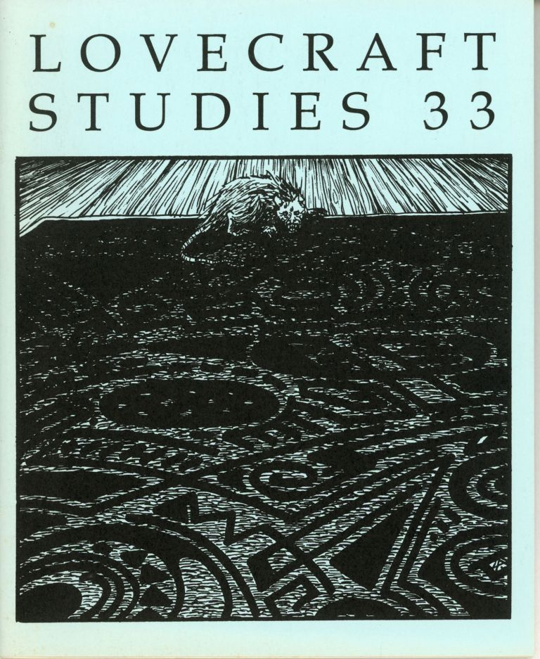 LOVECRAFT STUDIES. Fall 1995 ., S. T. Joshi, number 33.