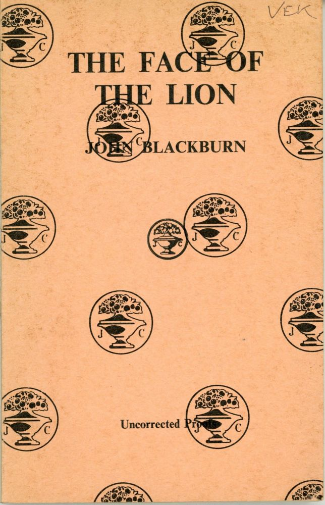 THE FACE OF THE LION. John Blackburn.
