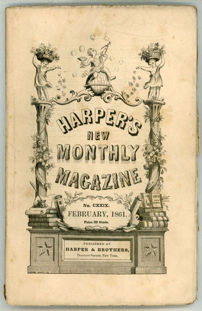 """""""Haunted and the Haunters, The."""" In: HARPER'S NEW MONTHLY MAGAZINE. February 1861 (volume 22, number 129). Edward George Earle Lytton Bulwer-Lytton, 1st Baron Lytton."""