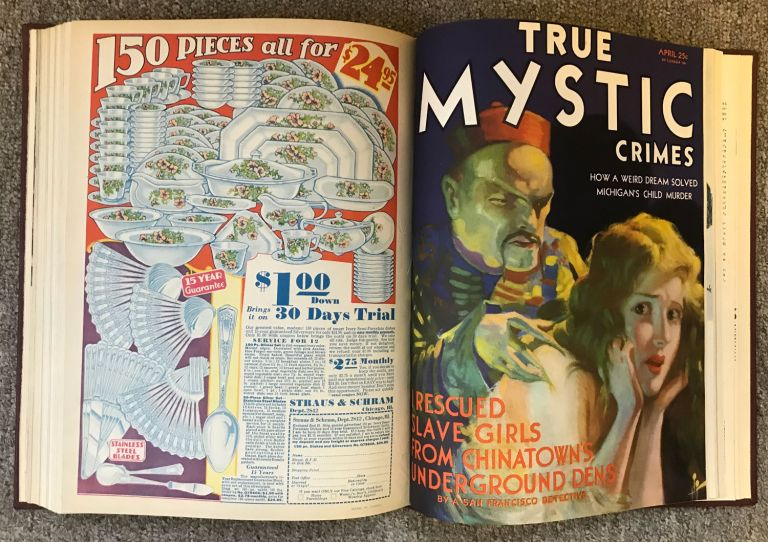 August Derleth, i e. ghost, August Derleth, MYSTIC MAGAZINE . November 1930 - April 1931 ., Capt. W. H. Fawcett, numbers volume 1, later TRUE MYSTIC CRIMES.