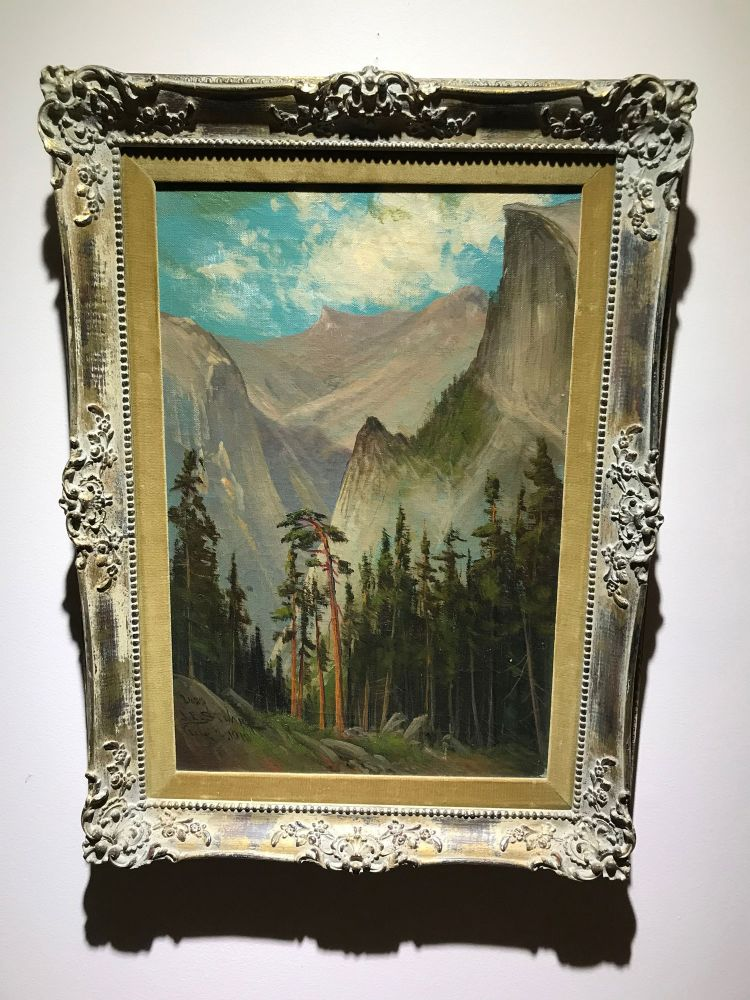 Cloud's Rest and Half Dome from near Glacier Point Hotel. Original oil on canvas. JAMES EVERETT STUART.
