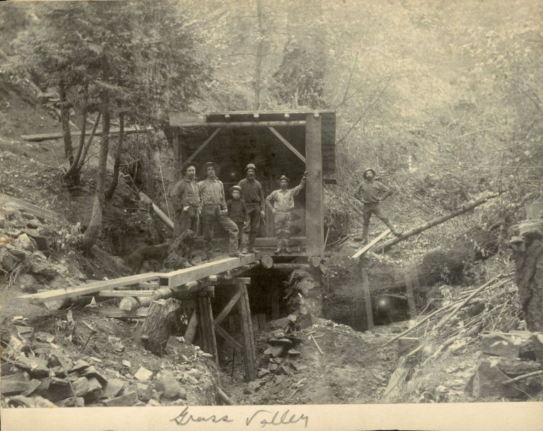 FOUR GELATIN SILVER PRINTS OF MINES IN GRASS VALLEY, CALIFORNIA. California, Nevada County, Grass Valley.
