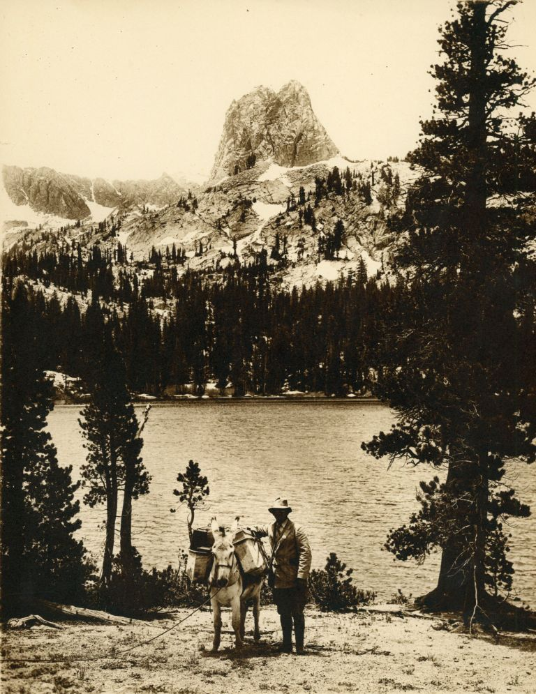 [High Sierra] Eight photographs of the Kings River Canyon High Sierra: The Great Western Divide and Rae Lake and Fin Dome [title supplied]. Monochrome sepia prints. ANONYMOUS PHOTOGRAPHER.