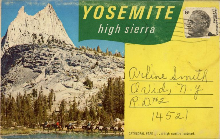 Yosemite High Sierra ... [folder title]. 5 ASSOCIATES.