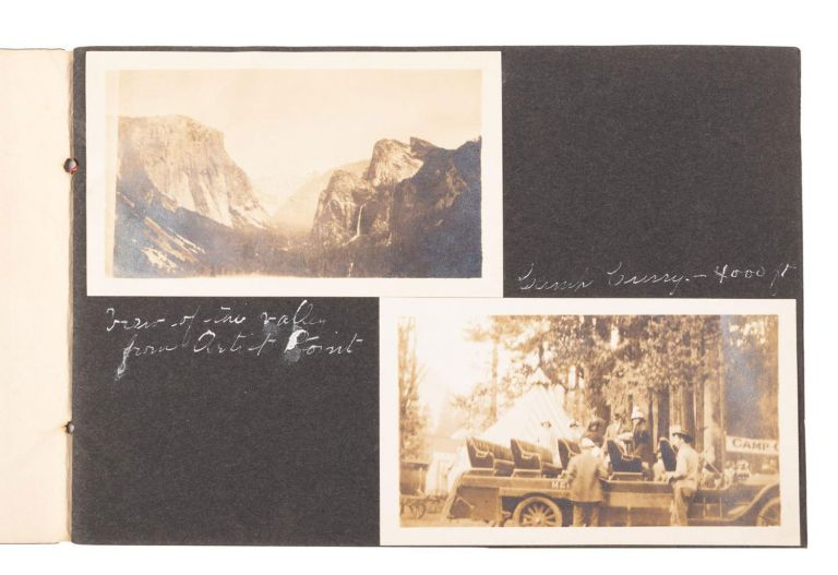 [Yosemite National Park] An album of photographs recording a vacation in Yosemite National Park, circa 1915 or later. ANONYMOUS PHOTOGRAPHER.