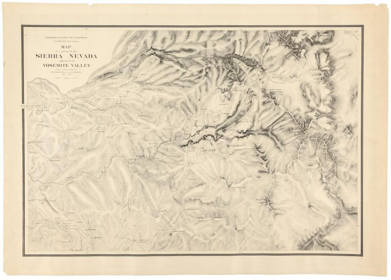 Map of a portion of the Sierra Nevada adjacent to the Yosemite Valley from surveys made by Chs. F. Hoffmann and J. T. Gardner, 1863-1867. Scale 2 miles to 1 inch. CALIFORNIA. STATE GEOLOGIST, JOSIAH DWIGHT WHITNEY.