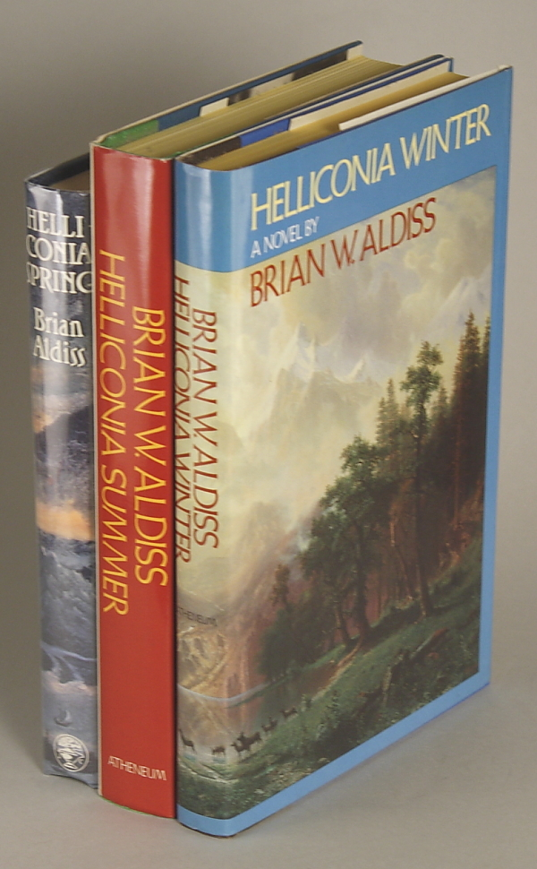 THE HELLICONIA TRILOGY: HELLICONIA SPRING [with] HELLICONIA SUMMER [with] HELLICONIA WINTER. Brian Aldiss.
