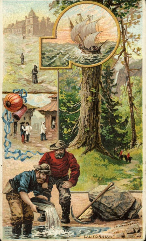 California. Copyright, 1882, by Arbuckle Bros. N. Y. Advertising card, ARBUCKLE BROS.