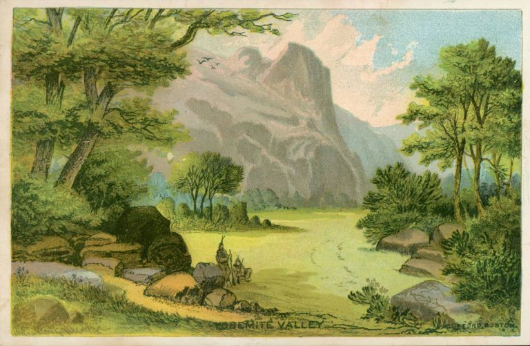 Yosemite Valley [caption title]. Victorian sentiment card, J. H. BUFFORD'S SONS.